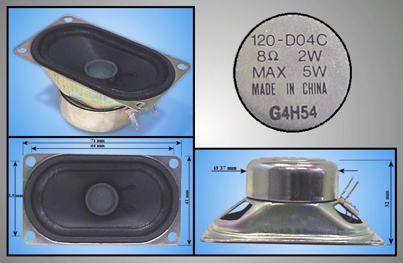 Hangszoró F/RANGE 2W/5W 8R 120-D04C