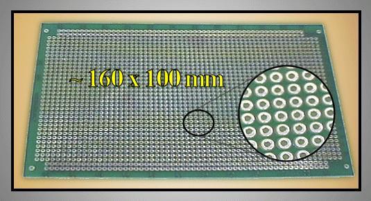 FR4 próbapanel 160x100 pontonként maratva PP-UM-26