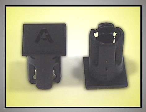 LED foglalat 5mm A betűs LEDH-SL230