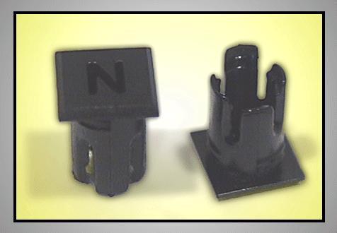 LED foglalat 5mm N betűs LEDH-SL243