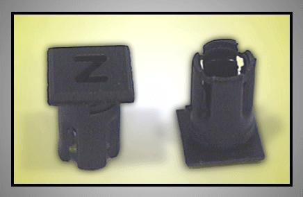 LED foglalat 5mm Z betűs LEDH-SL255