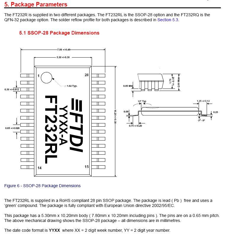 USB to RS232 DATA TRANSFER 28p FT232RL