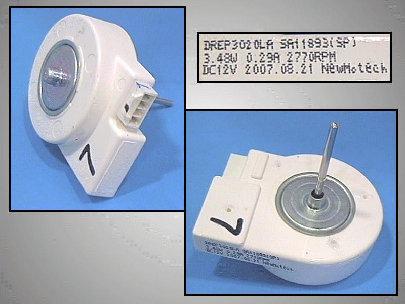 Ventilátor motor 12V 2650RPM W8-DA3100020E