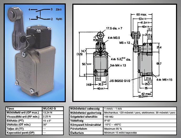 Ipari automatizálási kapcsoló WLCA2-G SW1160
