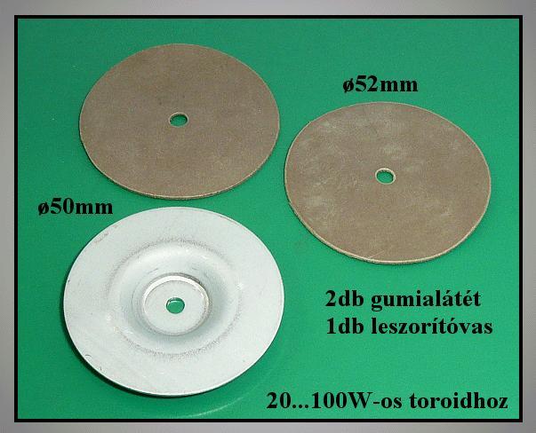 Toroid trafó rögzítő szett 20-100W TRAFO KIT-100