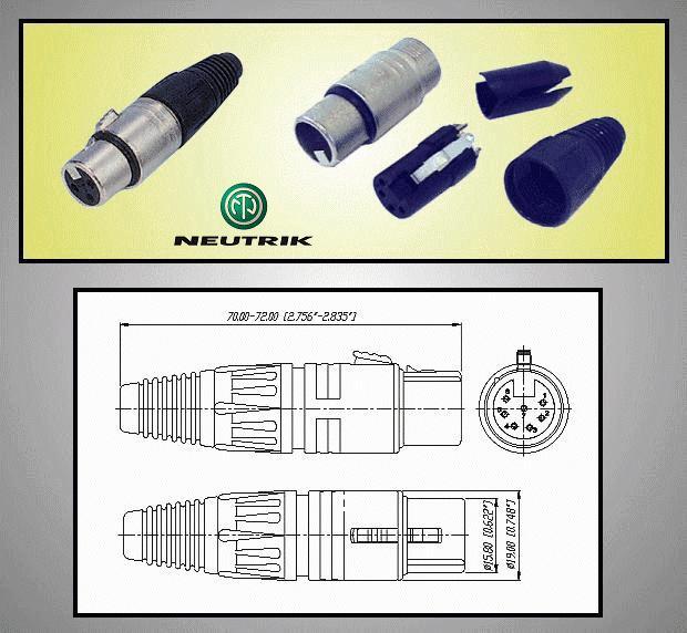 XLR aljzat 7p. (lengő) NTR-NC7FX