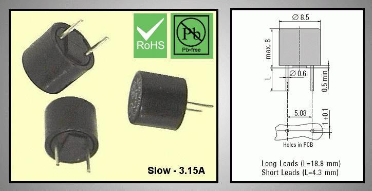 Olvadó biztosíték lassú TR5 3,15A RFT 3.15A