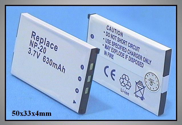 Li-Ion 3.7V 630mAh akkumulátor 33x4,8x51,5mm ACCU FOT-100-63