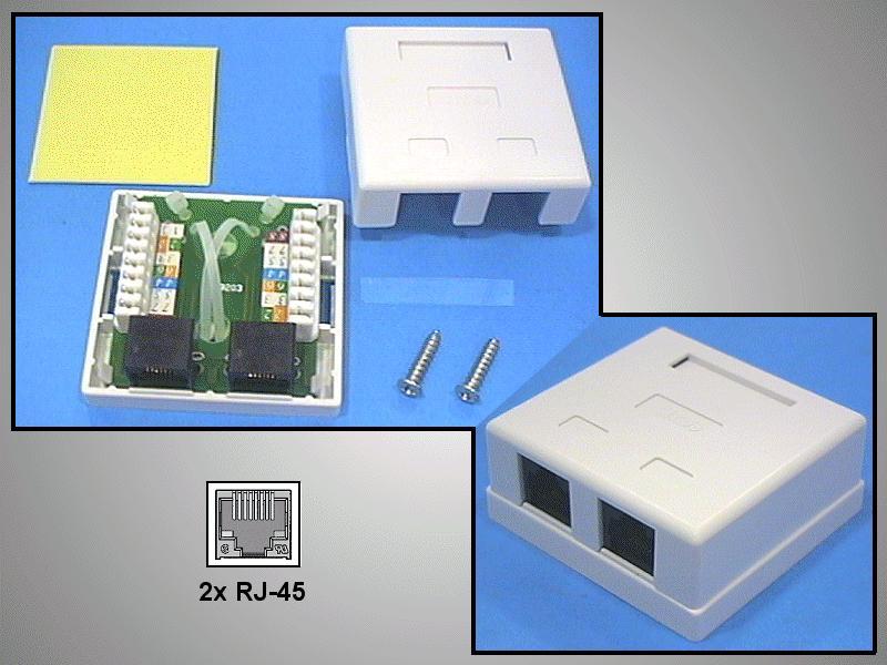 UTP 2xRJ45 fali aljzat 2x8p. falon kívüli CSAT-T018 8/8U2I