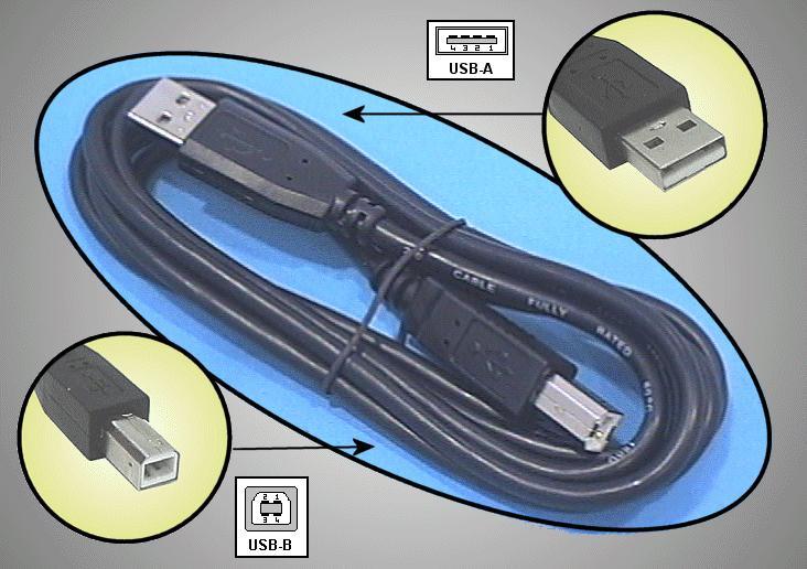 USB2-A dugó - USB2-B dugó kábel 3m CABLE USB-ABH/3