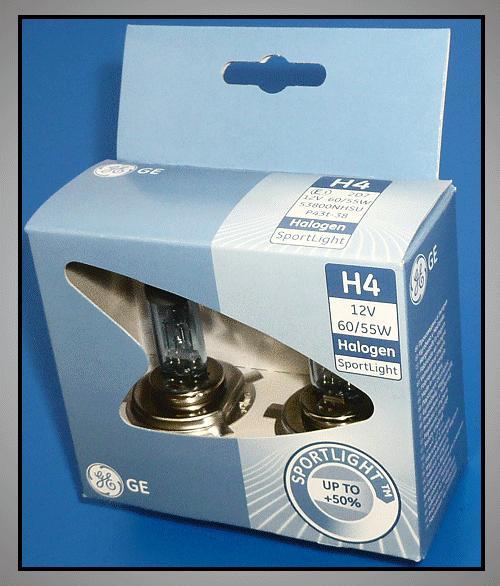 2db Autó izzó 12V H4 SPORTLIGHT LAMP-H4SPORT-12