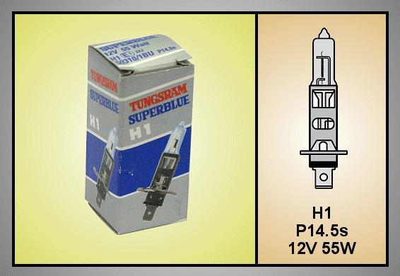 Autó izzó 12V H1 SUPERBLUE LAMP-H1SBLUE-12
