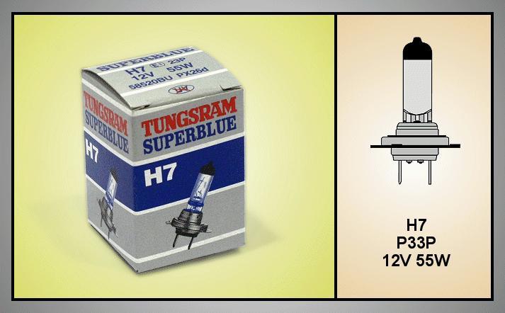 Autó izzó 12V H7 SUPERBLUE LAMP-H7SBLUE-12
