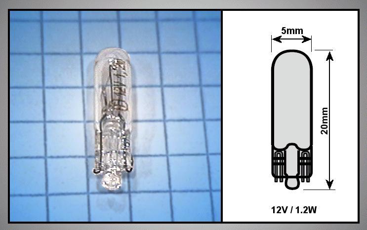 Autó izzó 12V 1.2W WB LAMP-1.2W-12