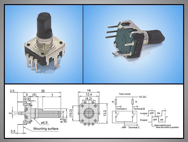 ENCODER 24PPR+SW EC12E24244A3 ENCODER0020