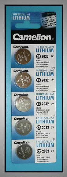 3V lítium elem CR2032-C5 Camelion BAT CR2032