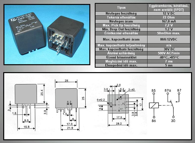 RELAY 1x12V 70/80A 12VDC PCB RELAY-AM3-12B