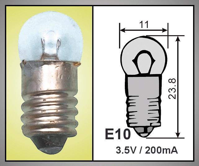 Izzó 3.5V 200mA E10 LAMP3.5V/200