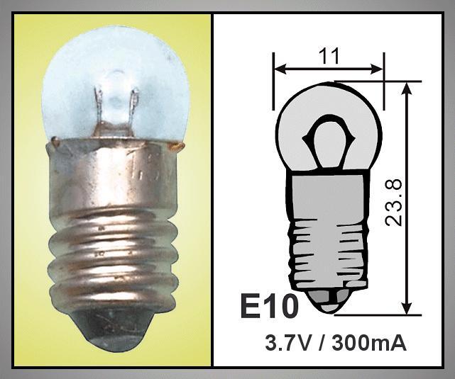 2db izzó 3.5V 200mA 0.7W E10 LAMP3.5V/200-V