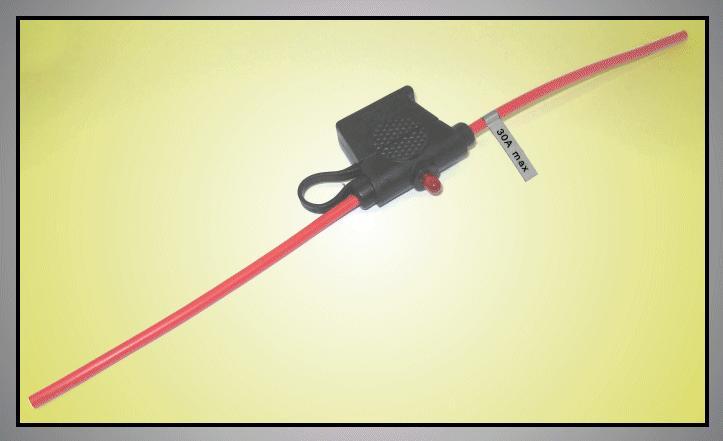 Autós lengő biztosíték tartó max: 30A+LED ZH19+HD