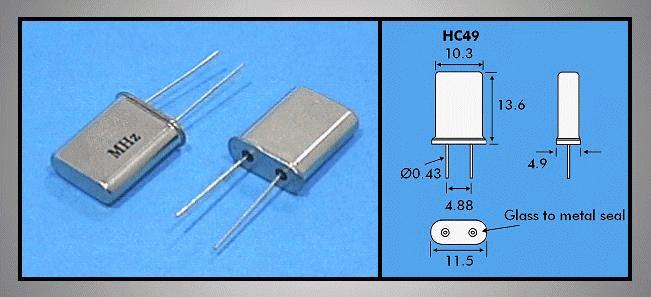 QUARTZ 40.000.000 MHz HC49/U 40.000 HC49
