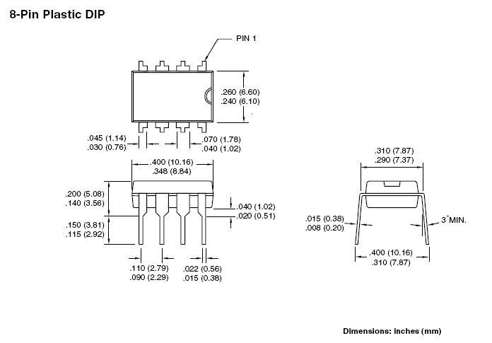 EEPROM 64K 8Kx8 bit I2C-bus 8p. DIP 24LC64-I/P -