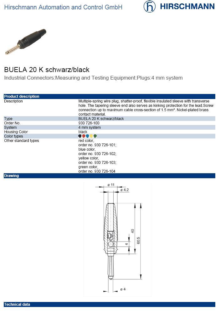 4mm banándugó fekete csavaros 60V/16A CSAT-B003/B