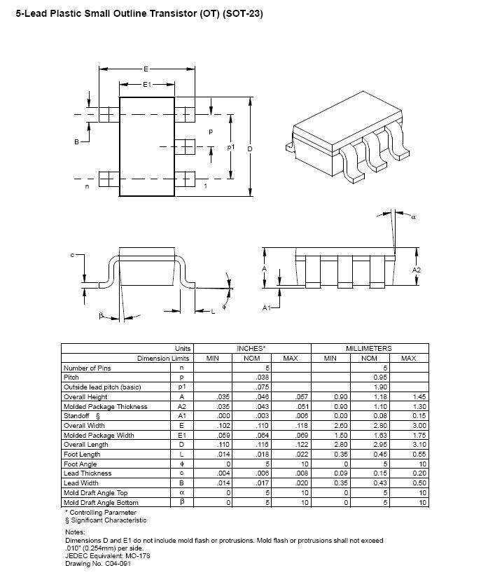 EEPROM 64K 8Kx8 bit I2C-bus 5p. SMD SOT23-5 24LC64T-I/OT -