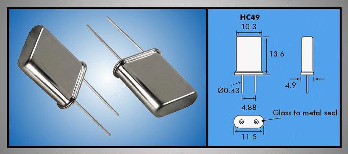 QUARTZ 1.843.200 MHz HC-49/U 1.8432 HC49