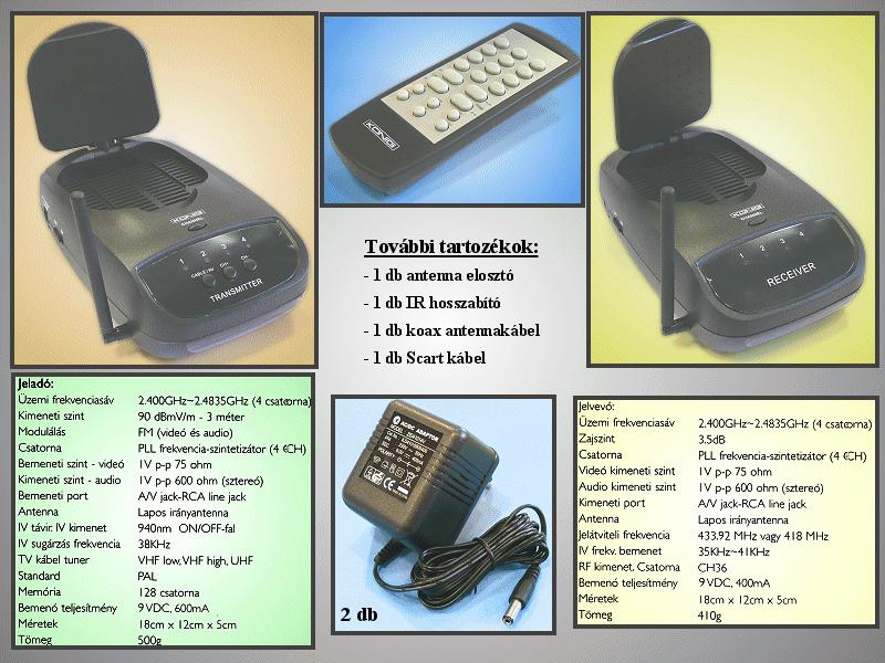 SCART A/V 2.4GHz Transmitter(VCR,DVD,LCD) VID-TRANS70