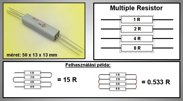 MULTIPLE ellenállás 0,5R..15R MR 1