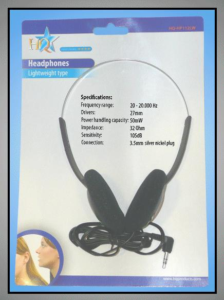 20-20.000Hz/105dB 50mW 3.5mm 1.1m HEAD PHONE 08