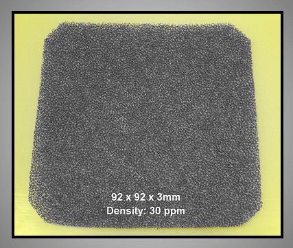 Szűrő betét 30ppi CYP F-090/30 -as rácsba ventilátorhoz CYP F-090/30B