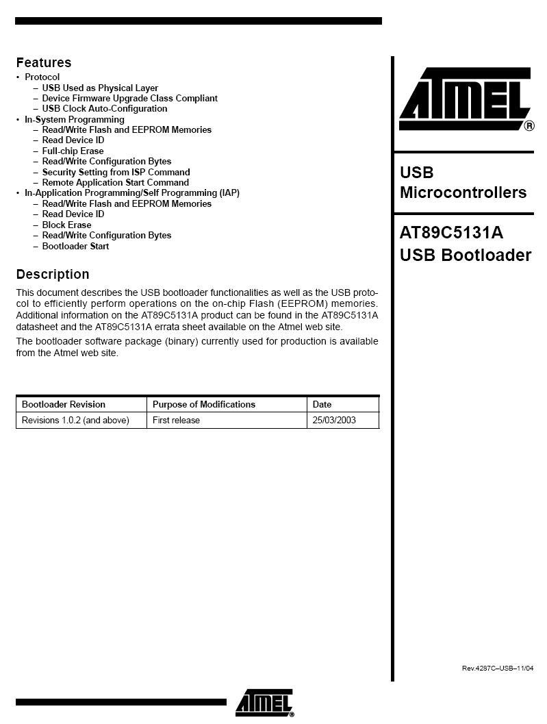 8-Bit 16K 48MHz MCU 8051USB PLCC-52p. 89C5131A-S3SUM