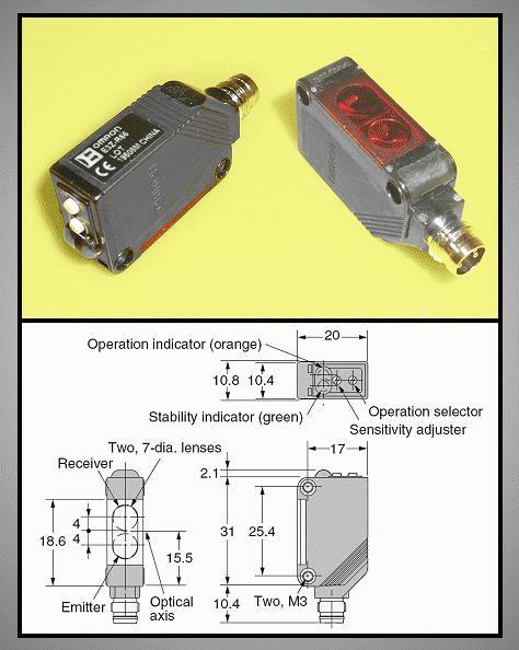 Ipari autómatizálási FOTO kapcsoló(NPN) SW1162 E3Z-R66