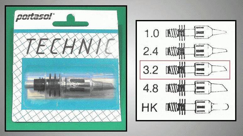 PORTASOL pákahegy 3.2mm PORTABIT 3