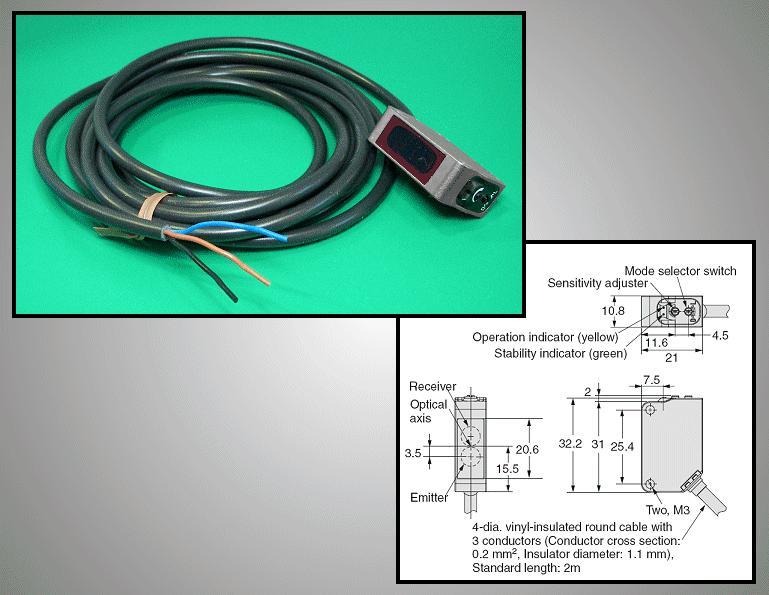 Ipari autómatizálási FOTO kapcsoló(PNP) SW1162 E3ZM-R81