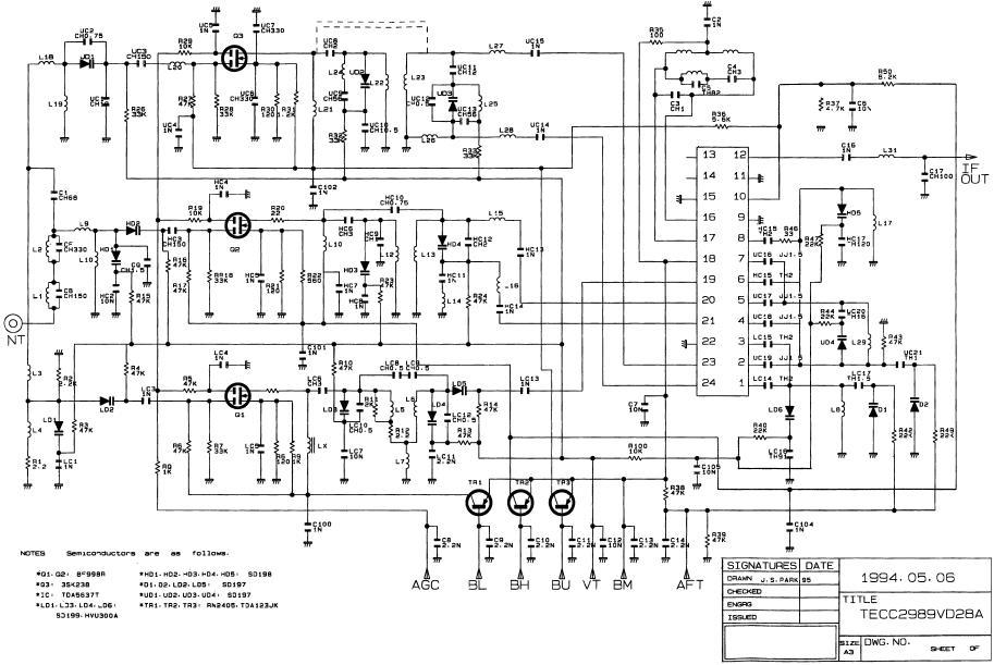 TV TUNER TECC2989VD28A SAMSUNG TUNER 002/S