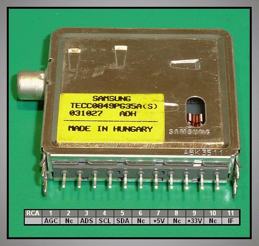 TV TUNER TECC0849PG35A (RCA) TUNER 004-S59