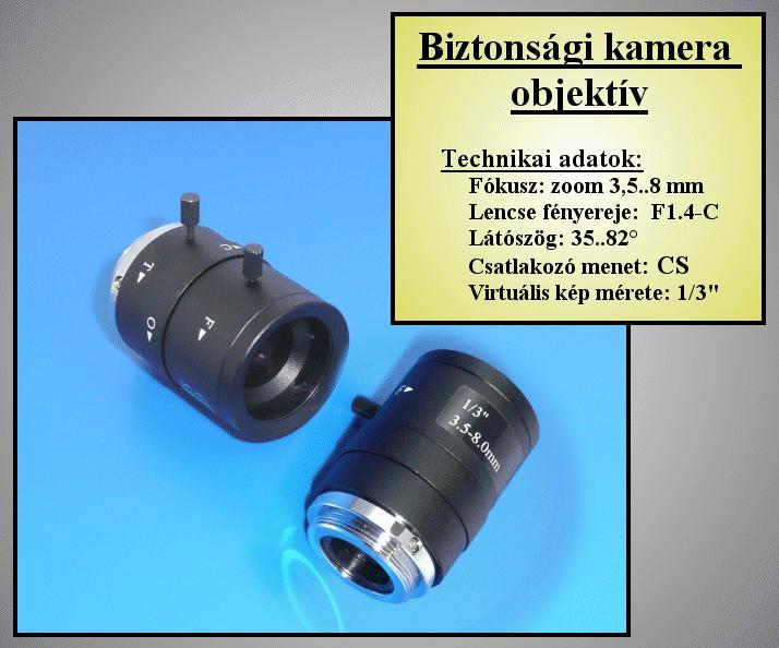 Biztonsági kamera objektív 3.5-8mm, FIX Irisz //SEC. LENS100
