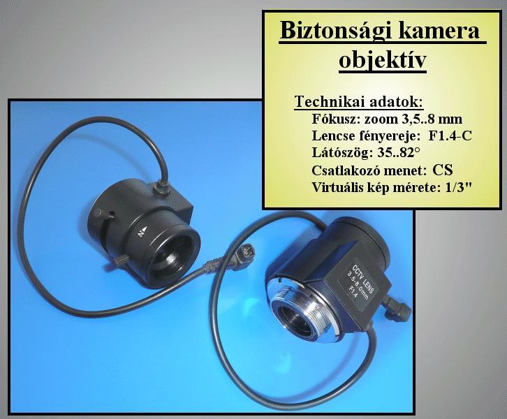 Biztonsági kamera objektív 3.5-8mm, AUTÓ Irisz //SEC. LENS200
