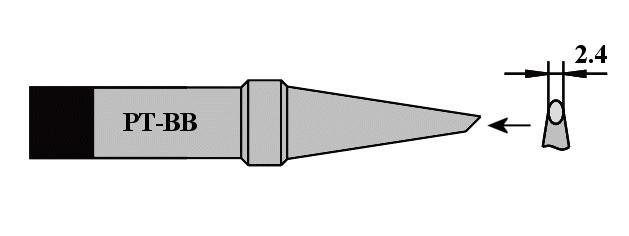 Forrasztópáka hegy WTCP SCR. 15mm 2.4mm 400* WEL.8PT-BB