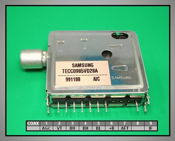 TV TUNER 12V TECC0985VD28A TUNER 004-S41