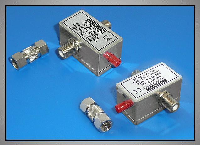 F-csillapító szabályozható 0-20dB FC-100 SZAB.KN