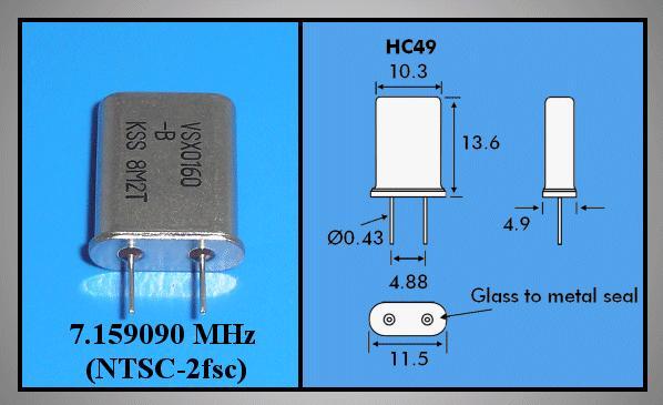 QUARTZ OSC VCR PANASONIC VSX0160-A