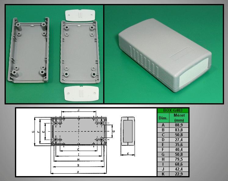 Project Box 90x50x24mm IP54 BOX G403