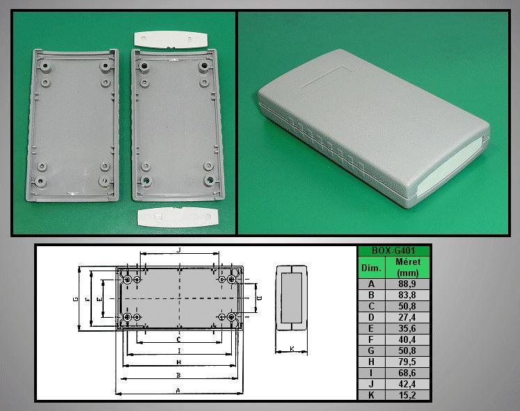 Project Box 90x50x16mm IP54 BOX G401