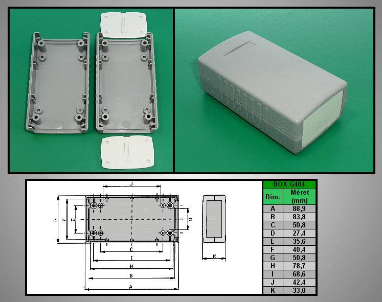 Project Box 90x50x32mm IP54 BOX G404