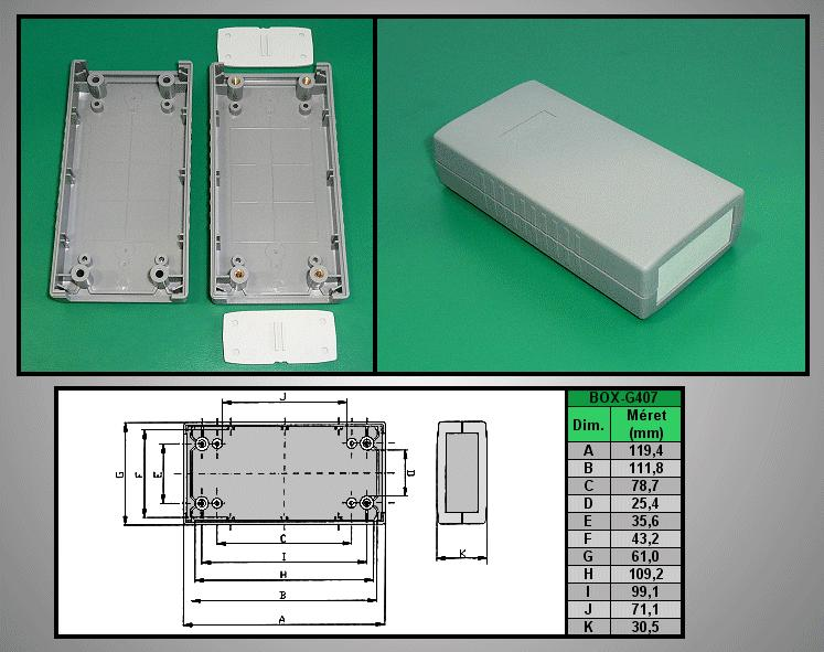 Project Box 120x60x30mm IP54 BOX G407