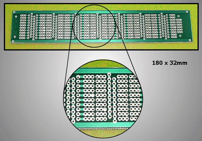 FR4 próbapanel 180x32 idomok maratva PP-UM-20